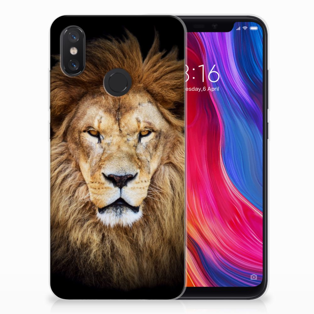 Xiaomi Mi 8 TPU Hoesje Design Leeuw
