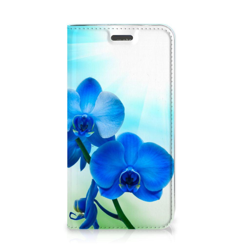 Motorola Moto C Plus Smart Cover Orchidee Blauw