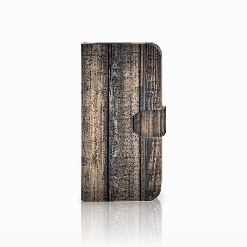 HTC One M8 Boekhoesje Design Steigerhout