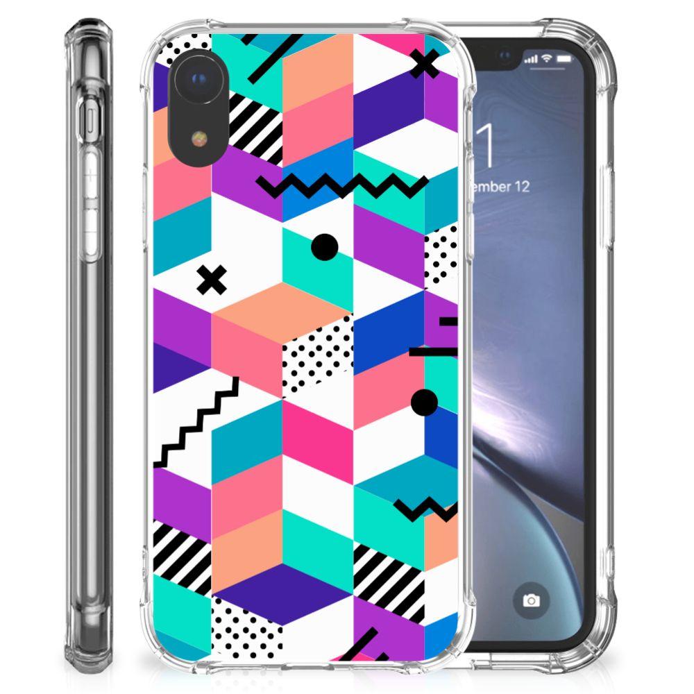 Apple iPhone Xr Shockproof Case Blokken Kleurrijk