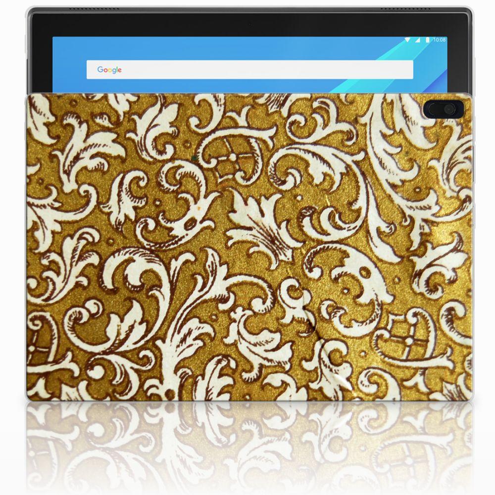 Lenovo Tab 4 10.1 Tablethoesje Design Barok Goud