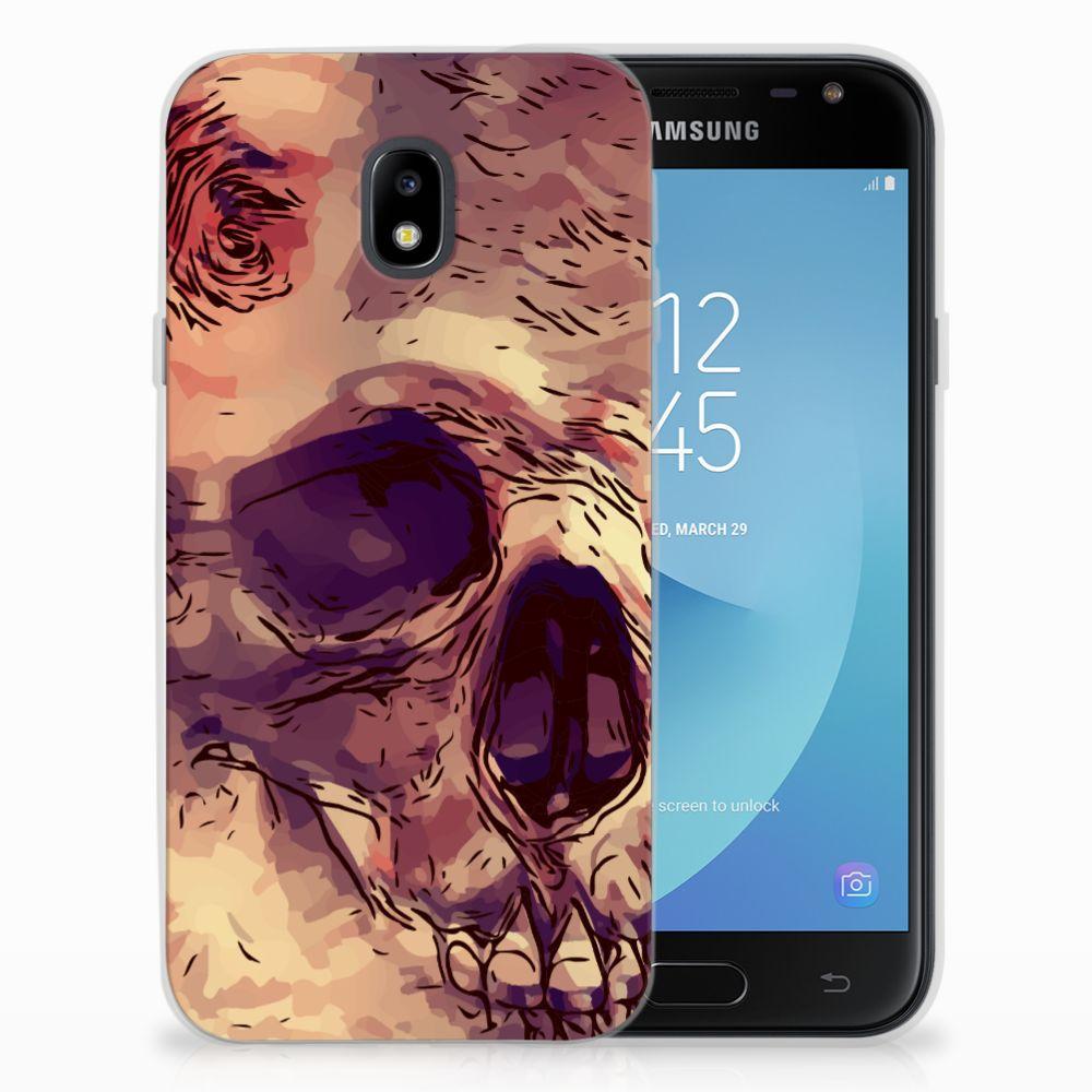 Samsung Galaxy J3 2017 Uniek TPU Hoesje Skullhead