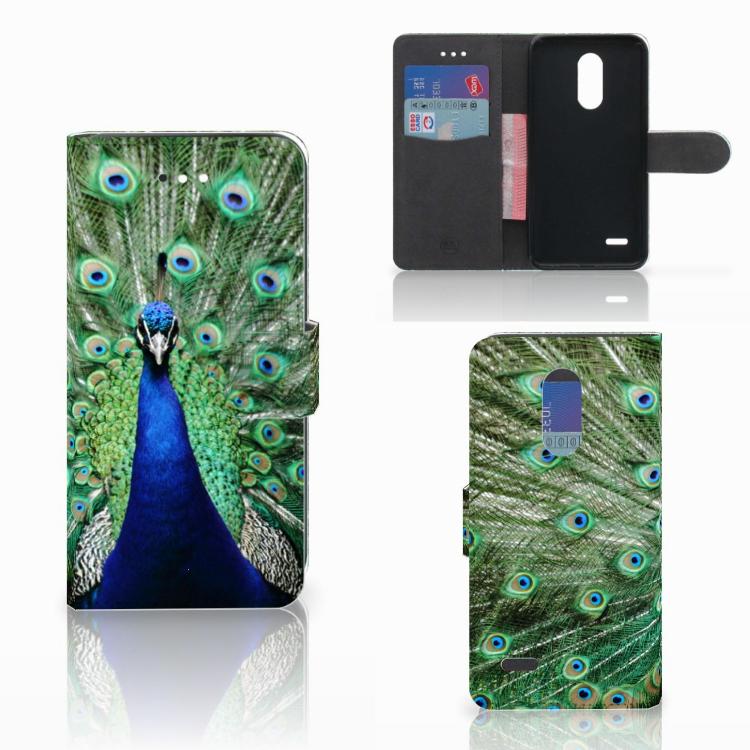 LG K11 Telefoonhoesje met Pasjes Pauw
