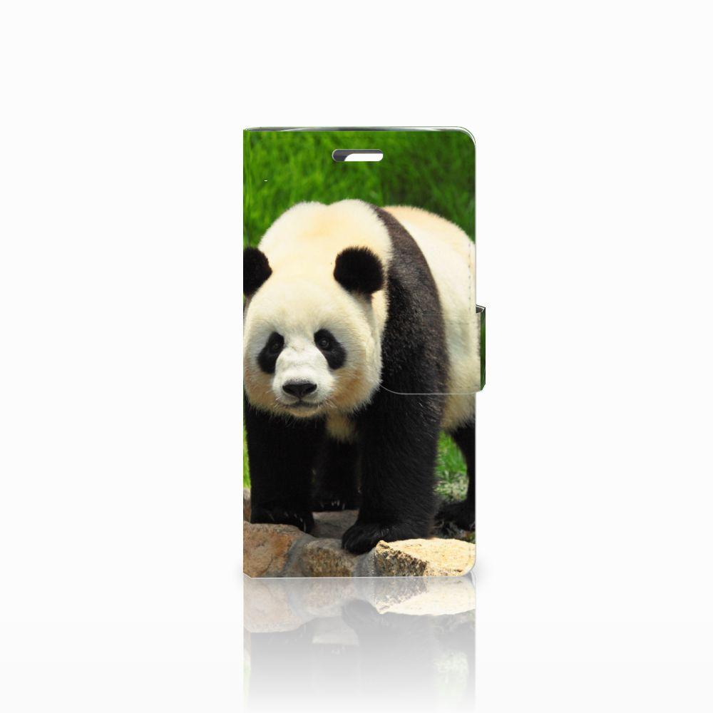 LG K10 2015 Telefoonhoesje met Pasjes Panda