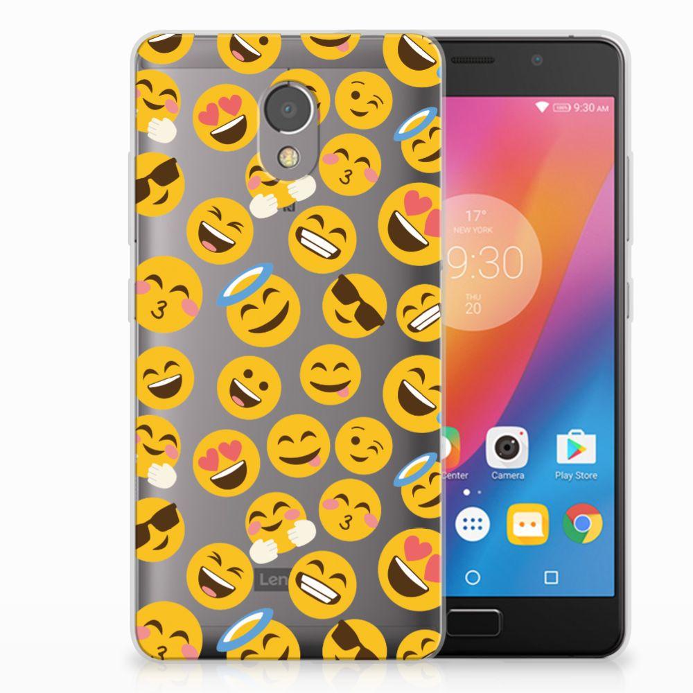 Lenovo P2 TPU Hoesje Design Emoji