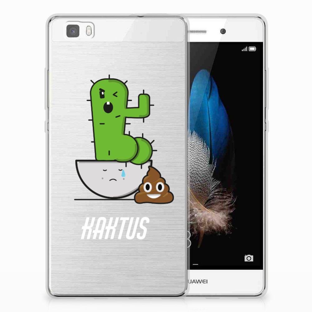 Huawei Ascend P8 Lite Uniek TPU Hoesje Cactus Poo