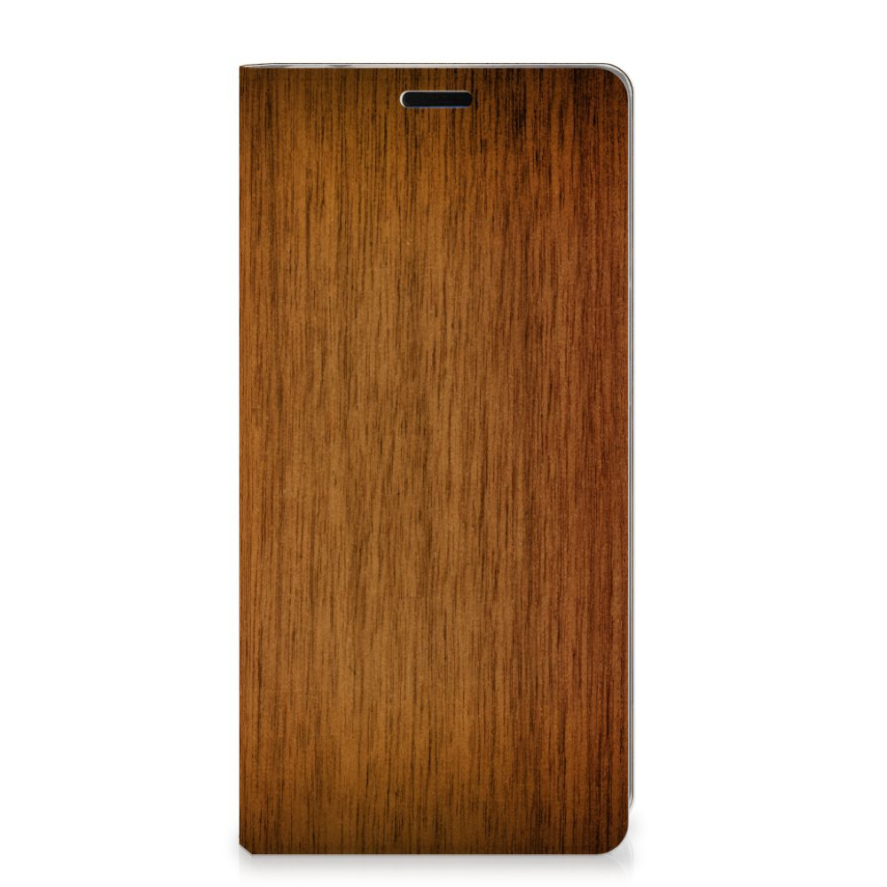 Samsung Galaxy A9 (2018) Book Wallet Case Donker Hout