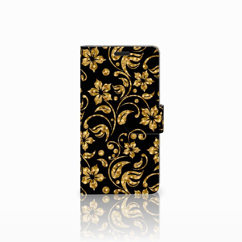 LG G3 Boekhoesje Design Gouden Bloemen
