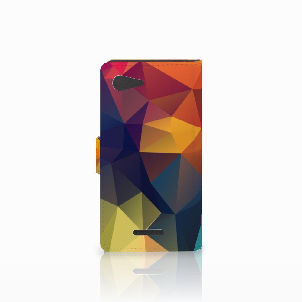 Sony Xperia E3 Bookcase Polygon Color