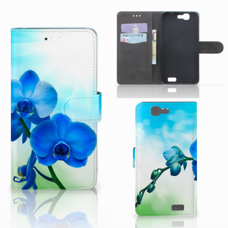 Huawei Ascend G7 Hoesje Orchidee Blauw