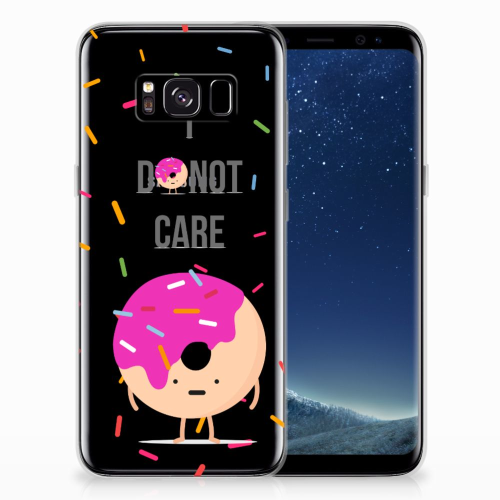 Samsung Galaxy S8 Siliconen Case Donut Roze