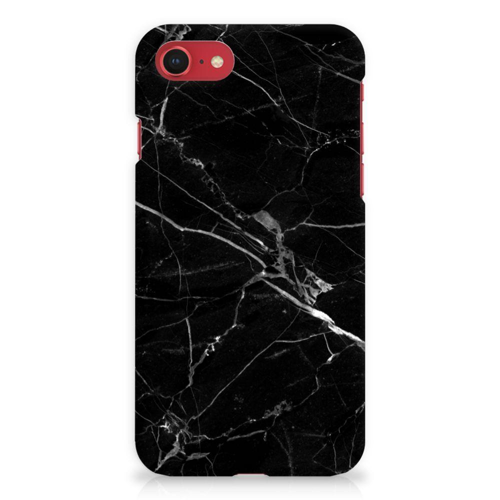 Apple iPhone 7 | 8 Uniek Hardcase Hoesje Marmer Zwart