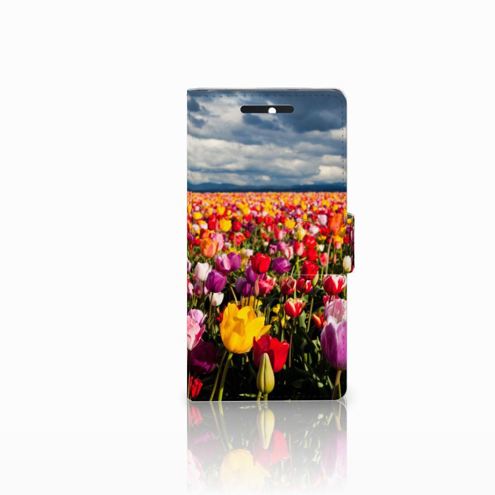 HTC Desire 628 Uniek Boekhoesje Tulpen