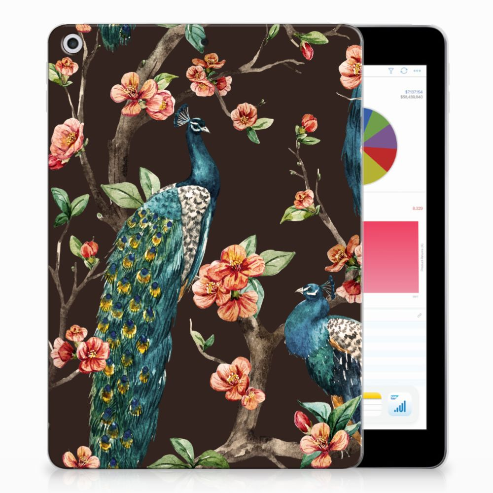 Apple iPad 9.7 2018 | 2017 Back Case Pauw met Bloemen
