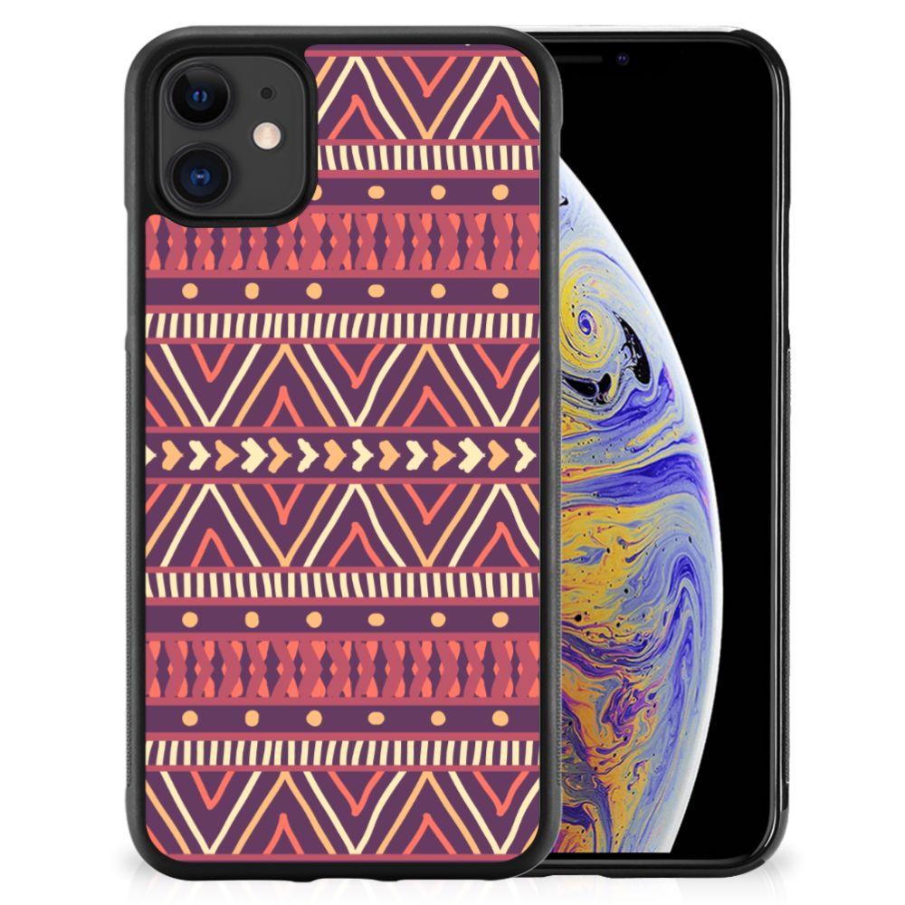 Apple iPhone 11 Bumper Case Aztec Paars