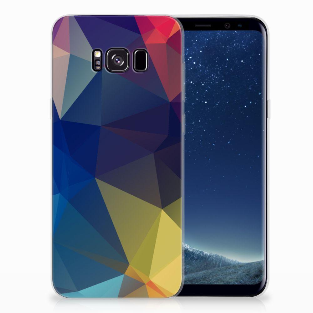 Samsung Galaxy S8 Plus TPU Hoesje Polygon Dark