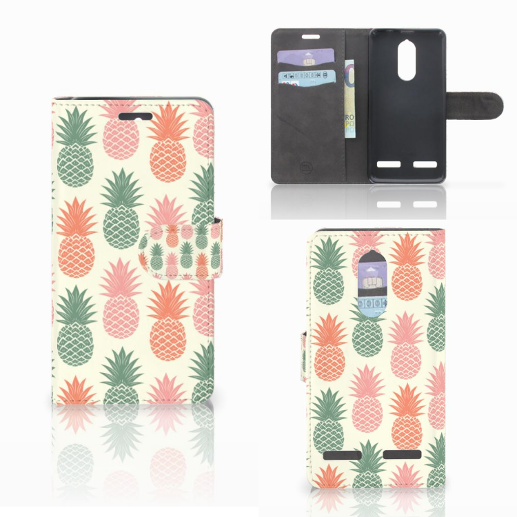 Lenovo K6 Book Cover Ananas