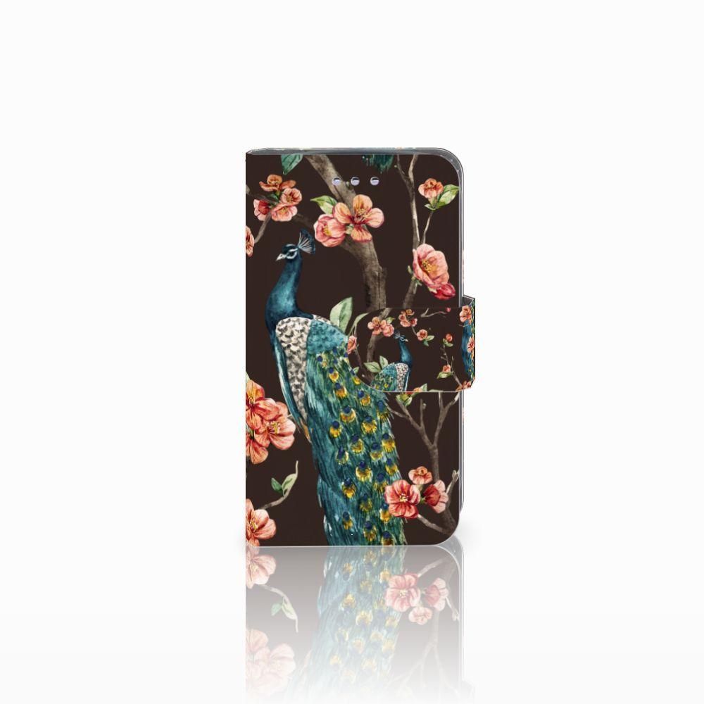 Samsung Galaxy S3 Mini Boekhoesje Design Pauw met Bloemen