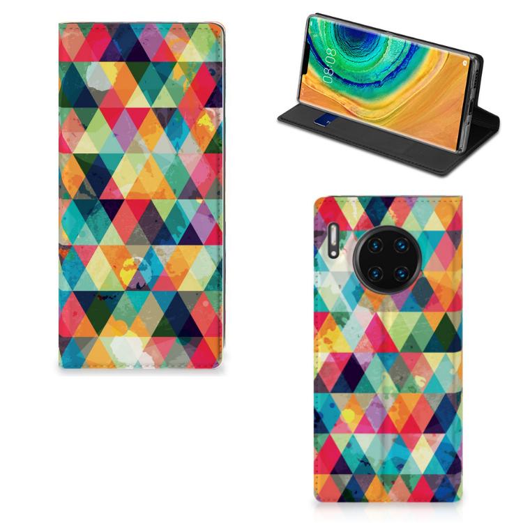 Huawei Mate 30 Pro Hoesje met Magneet Geruit