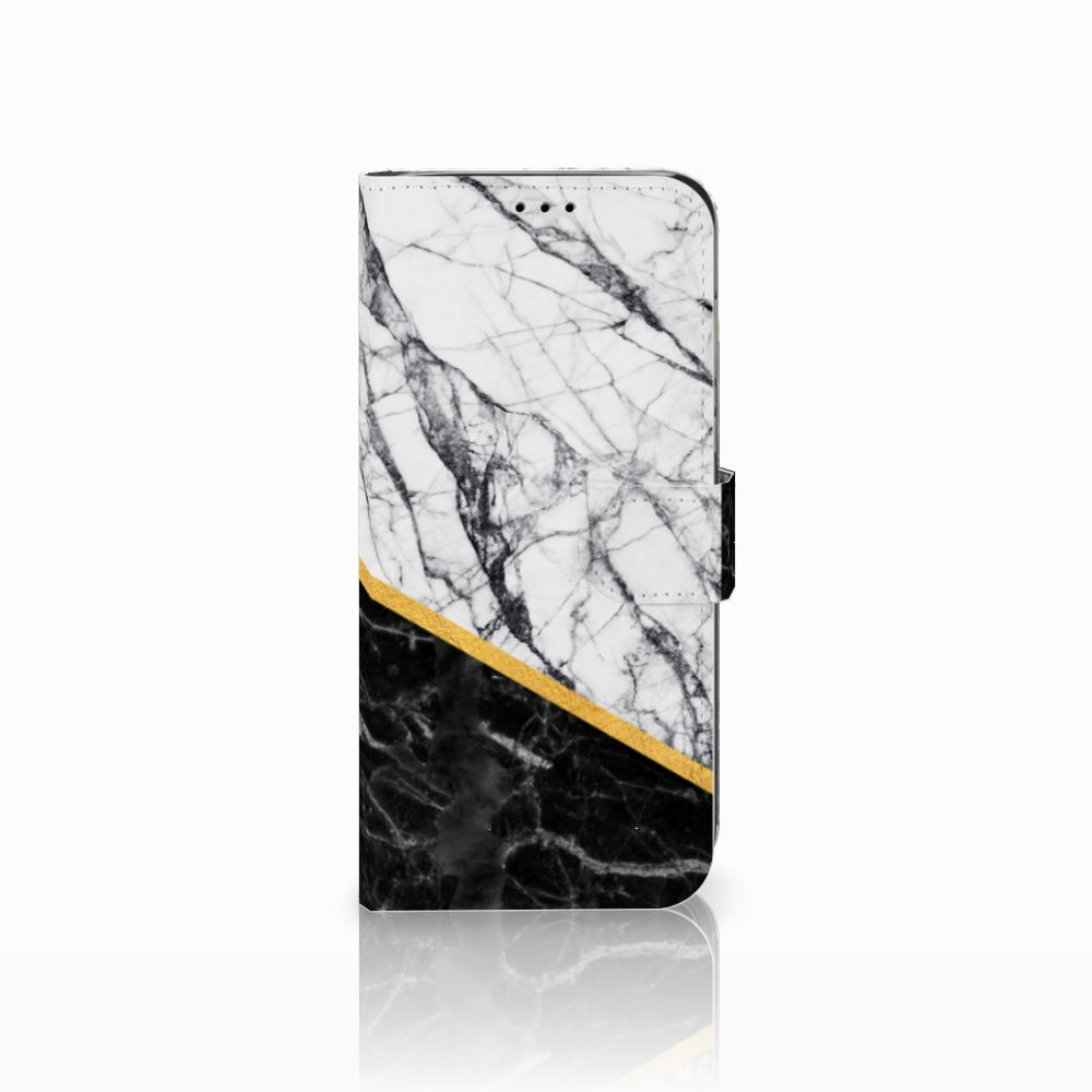 Huawei Mate 20 Lite Uniek Boekhoesje Marble White Black