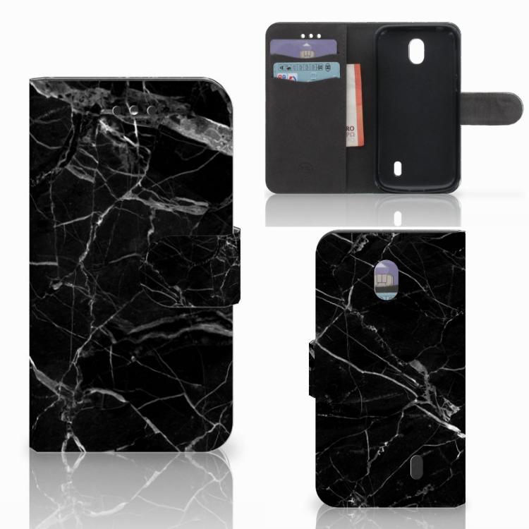 Nokia 1 Bookcase Marmer Zwart