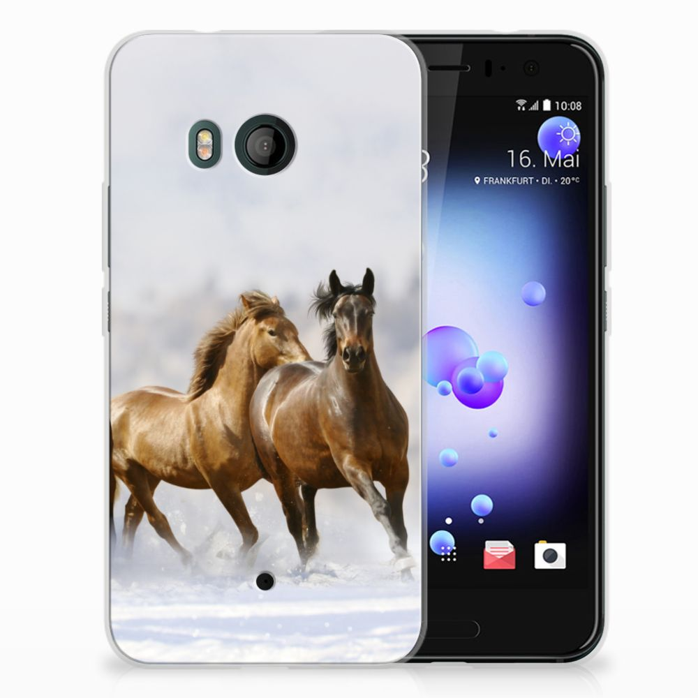 HTC U11 Uniek TPU Hoesje Paarden