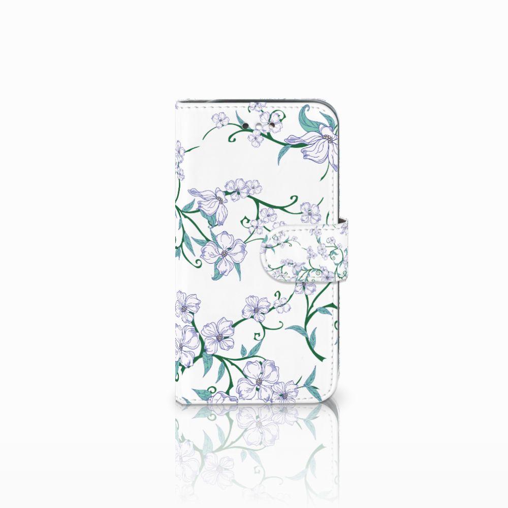 Samsung Galaxy S4 Uniek Boekhoesje Blossom White