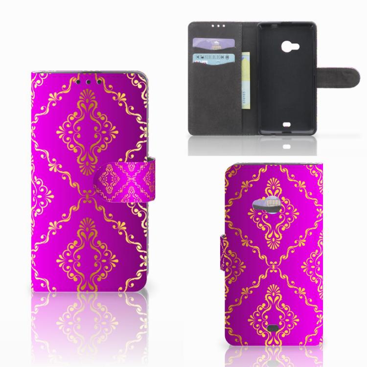 Wallet Case Microsoft Lumia 535 Barok Roze
