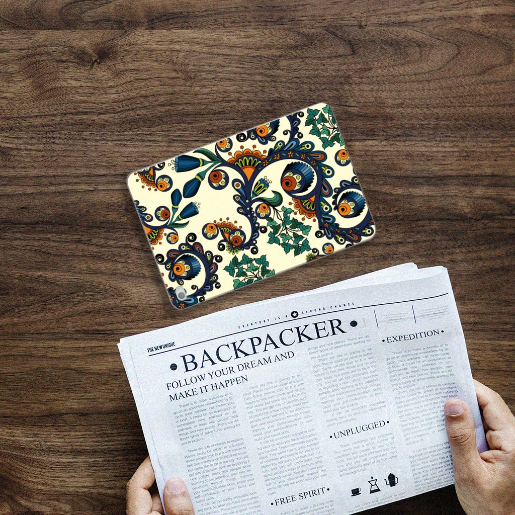 Apple iPad Mini 4   Mini 5 (2019) Tablethoesje Design Barok Flower
