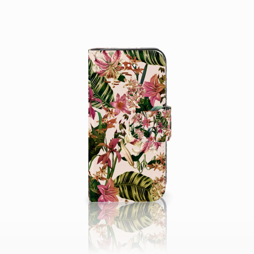 Apple iPhone 5 | 5s | SE Uniek Boekhoesje Flowers