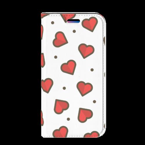 Apple iPhone X   Xs Hoesje met Magneet Hearts