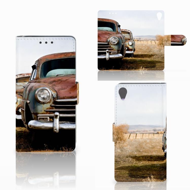 Sony Xperia X Telefoonhoesje met foto Vintage Auto