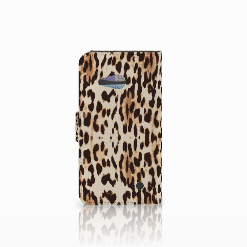 Microsoft Lumia 550 Telefoonhoesje met Pasjes Leopard