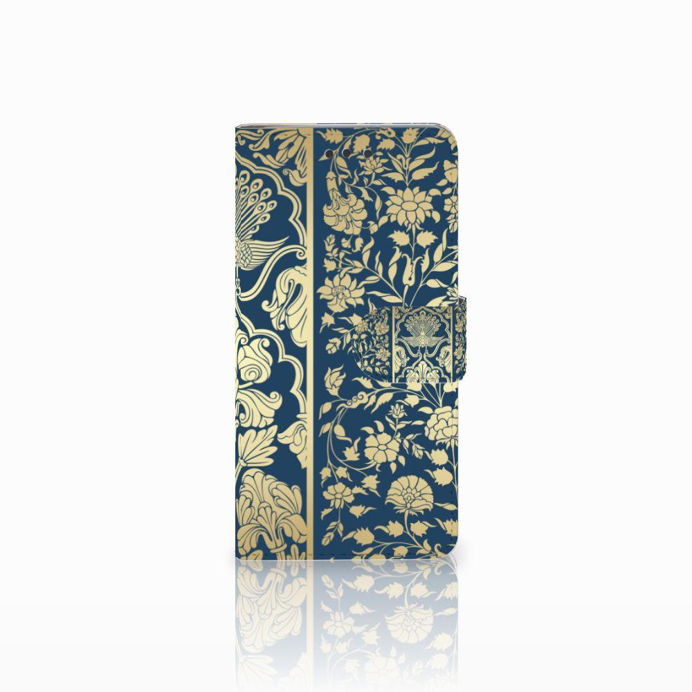 HTC U Play Uniek Boekhoesje Golden Flowers