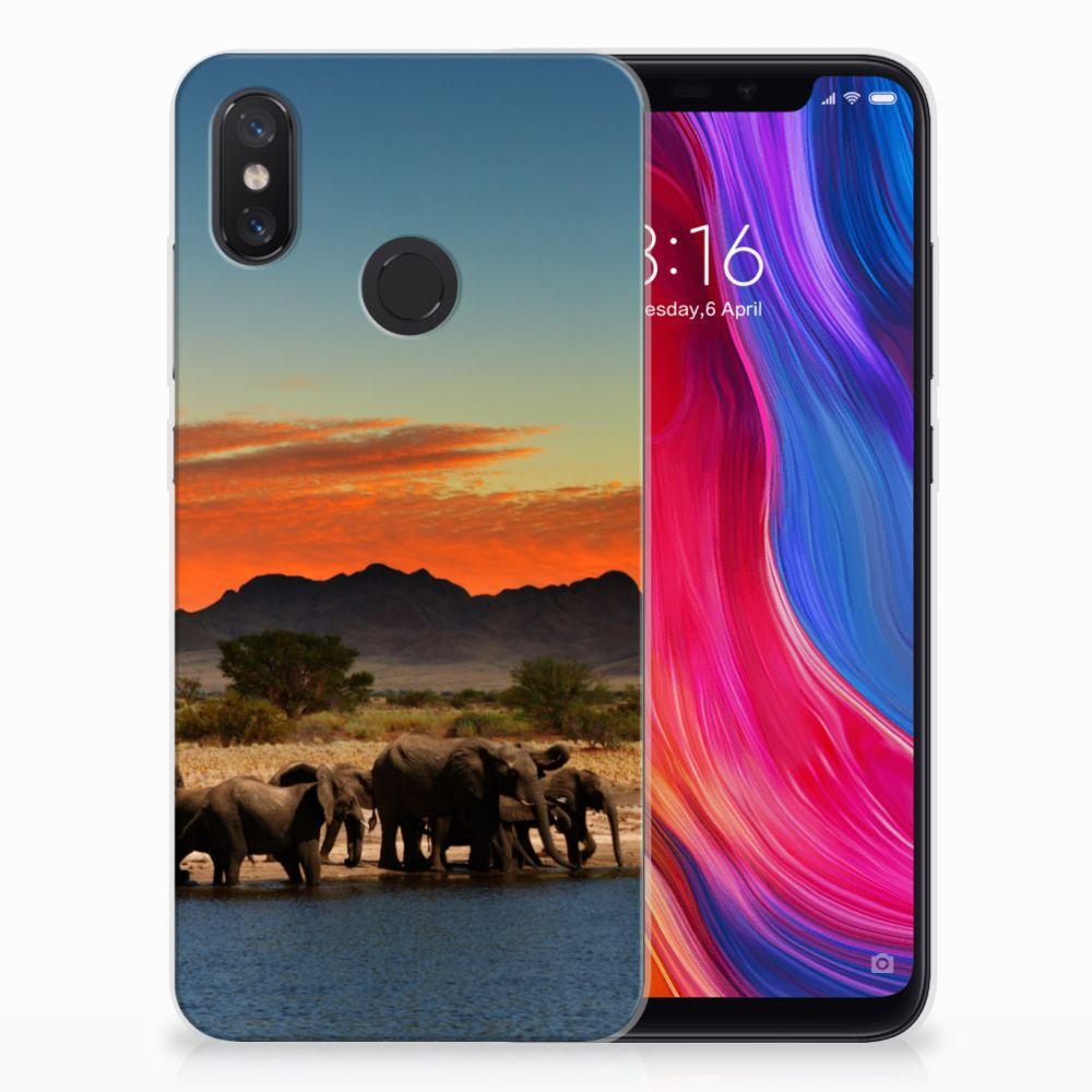 Xiaomi Mi 8 TPU Hoesje Design Olifanten