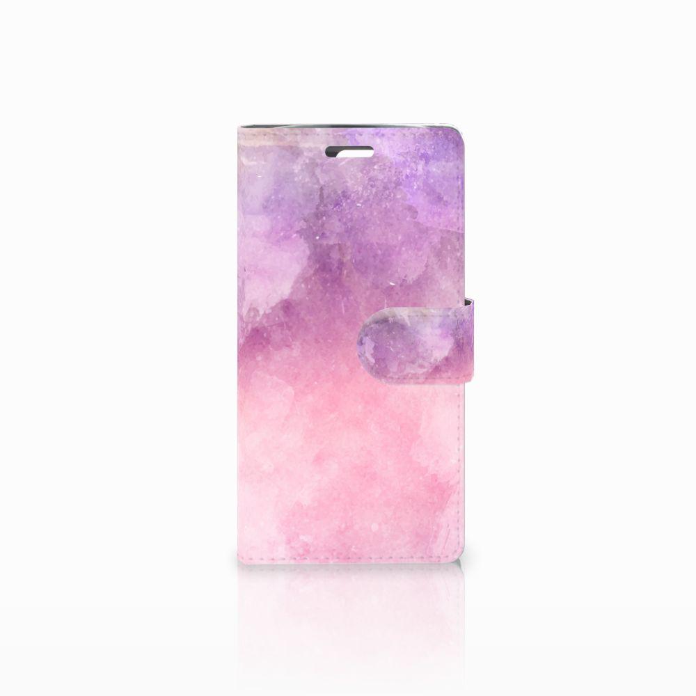 LG K10 2015 Boekhoesje Design Pink Purple Paint