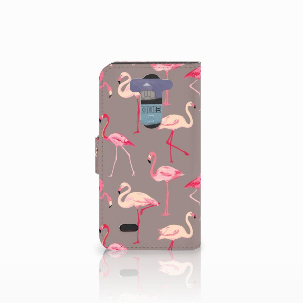 LG G3 S Telefoonhoesje met Pasjes Flamingo