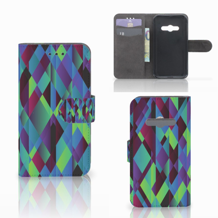Samsung Galaxy Xcover 3 | Xcover 3 VE Bookcase Abstract Green Blue