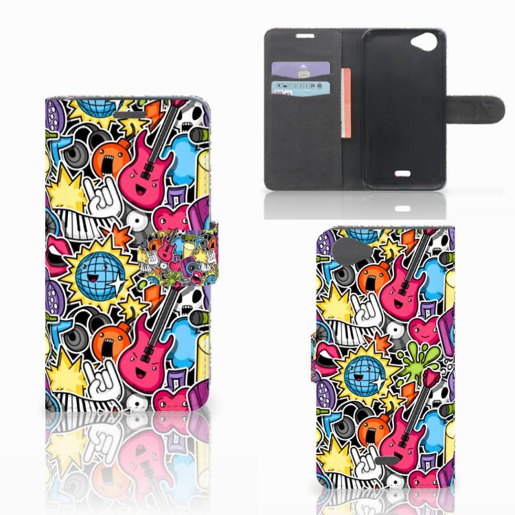Wiko Rainbow Jam Wallet Case met Pasjes Punk Rock
