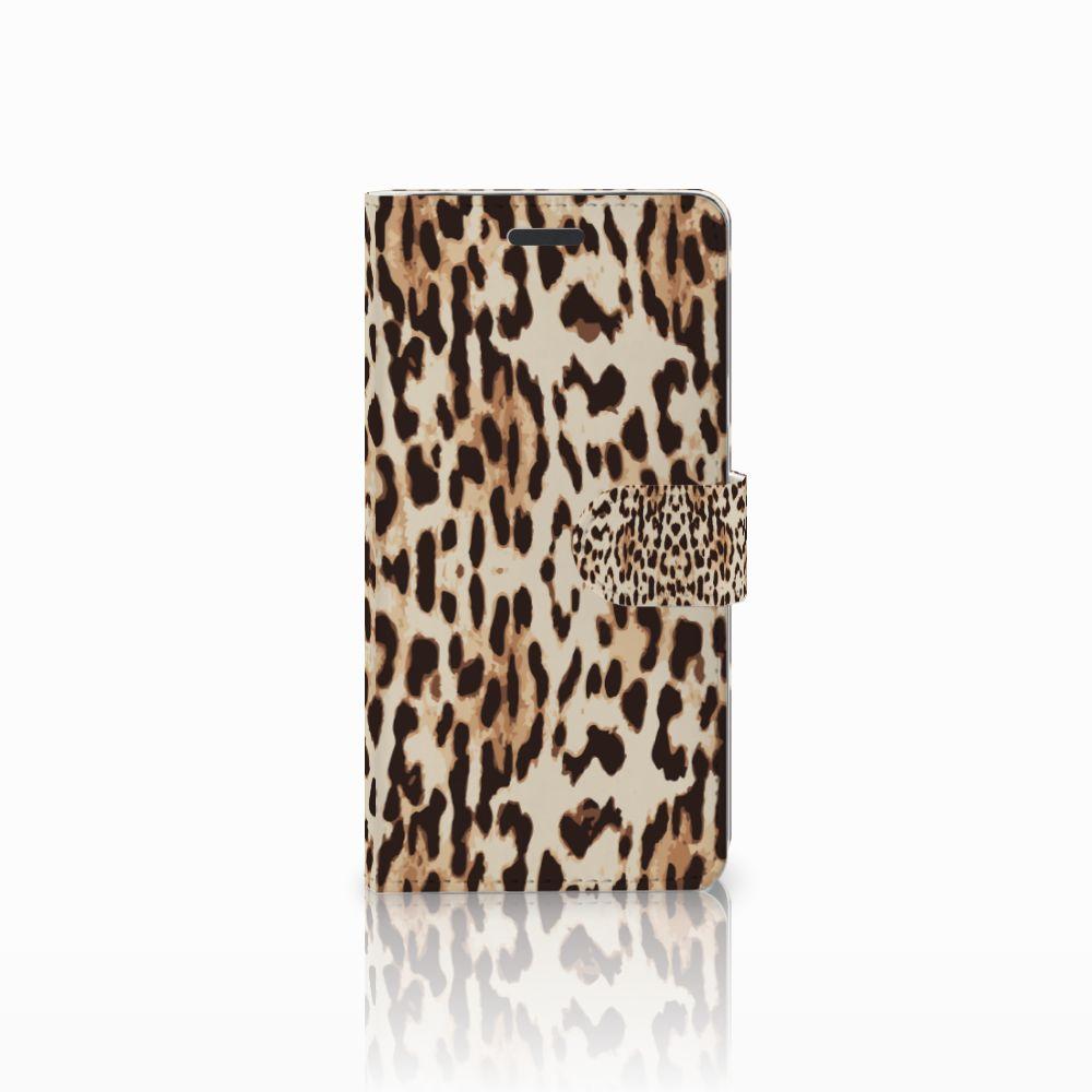Samsung Galaxy Note 5 Uniek Boekhoesje Leopard