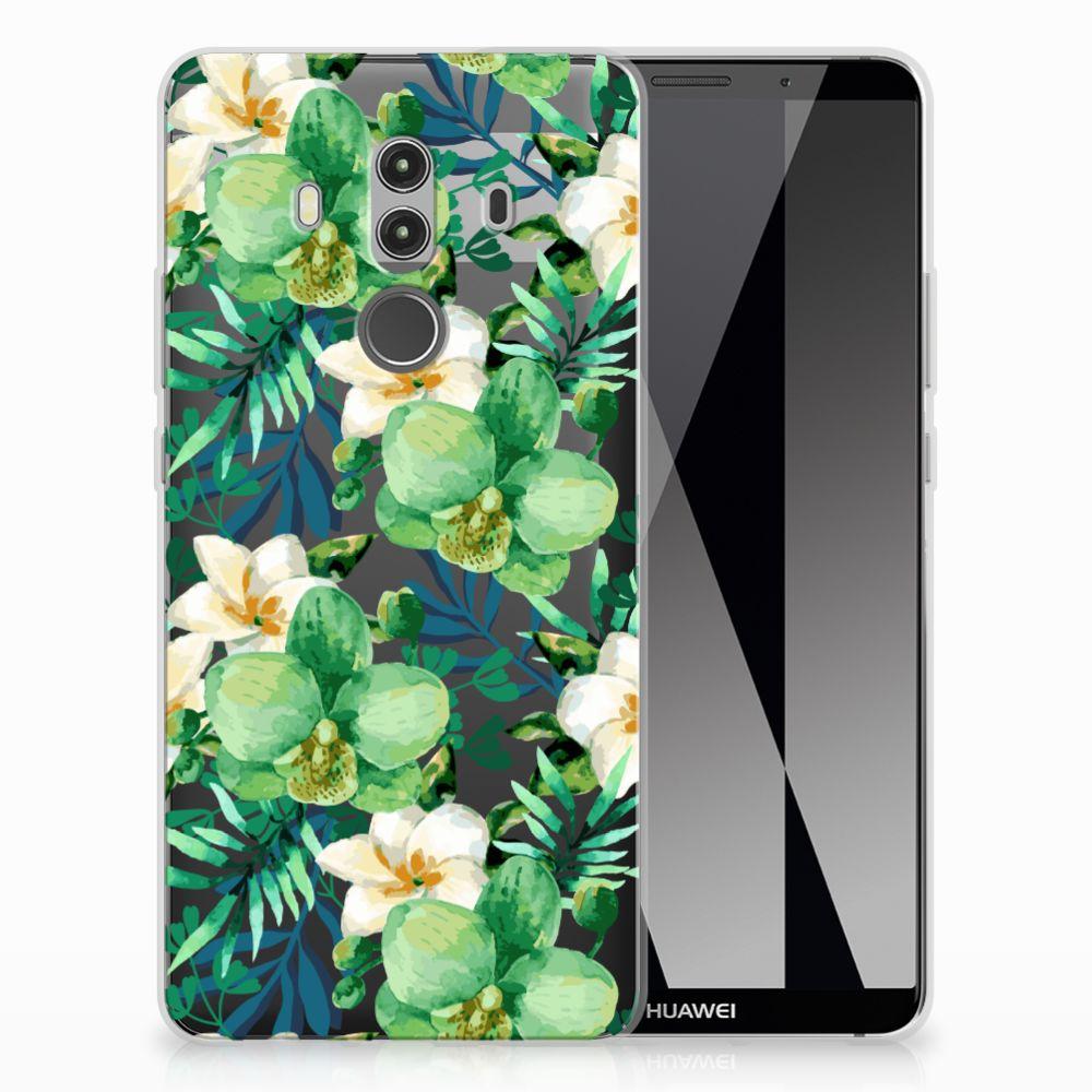 Huawei Mate 10 Pro TPU Case Orchidee Groen