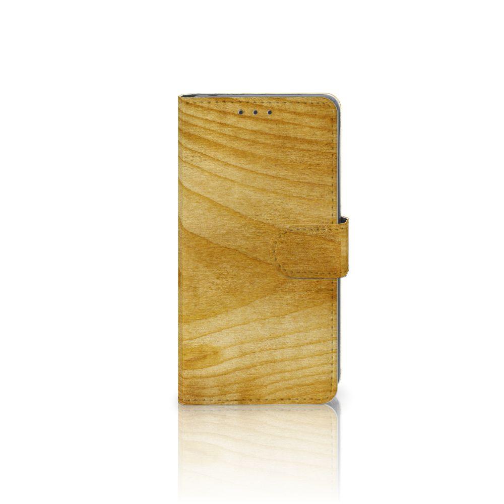 Sony Xperia Z2 Uniek Boekhoesje Licht Hout