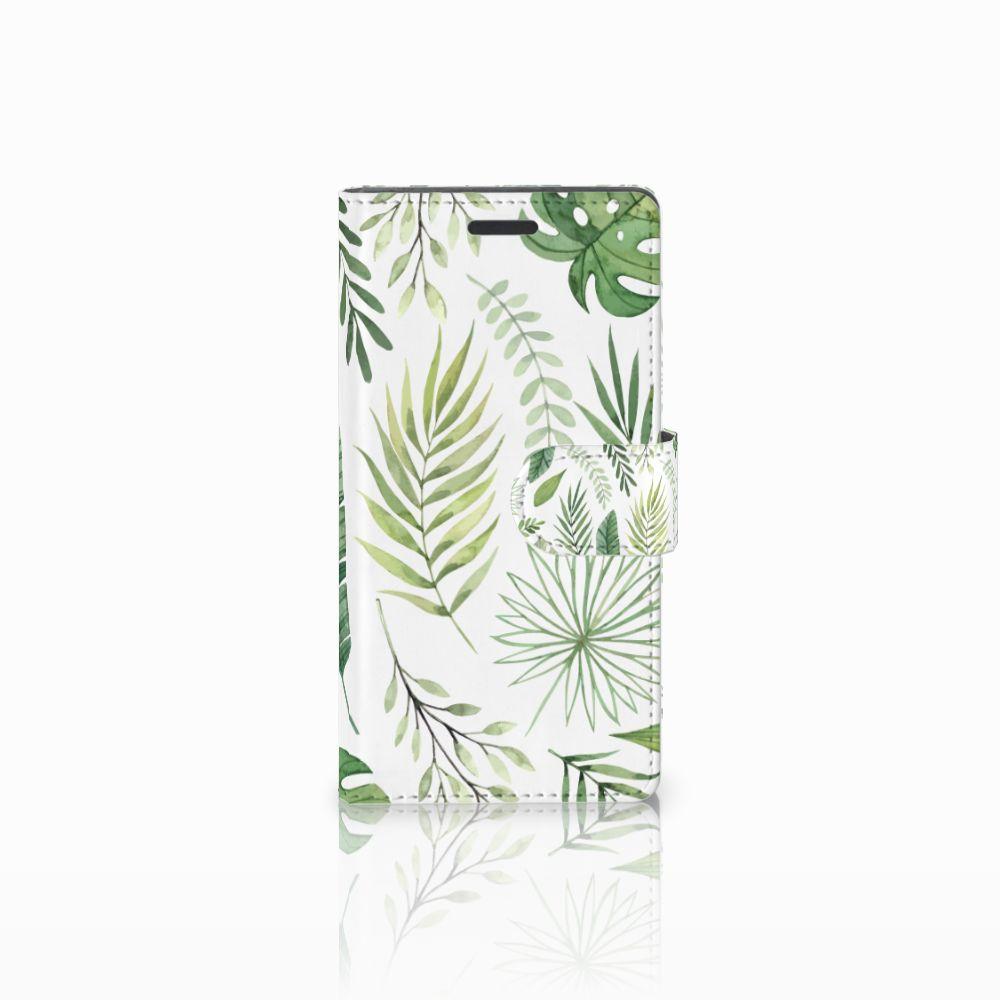 Nokia Lumia 830 Uniek Boekhoesje Leaves