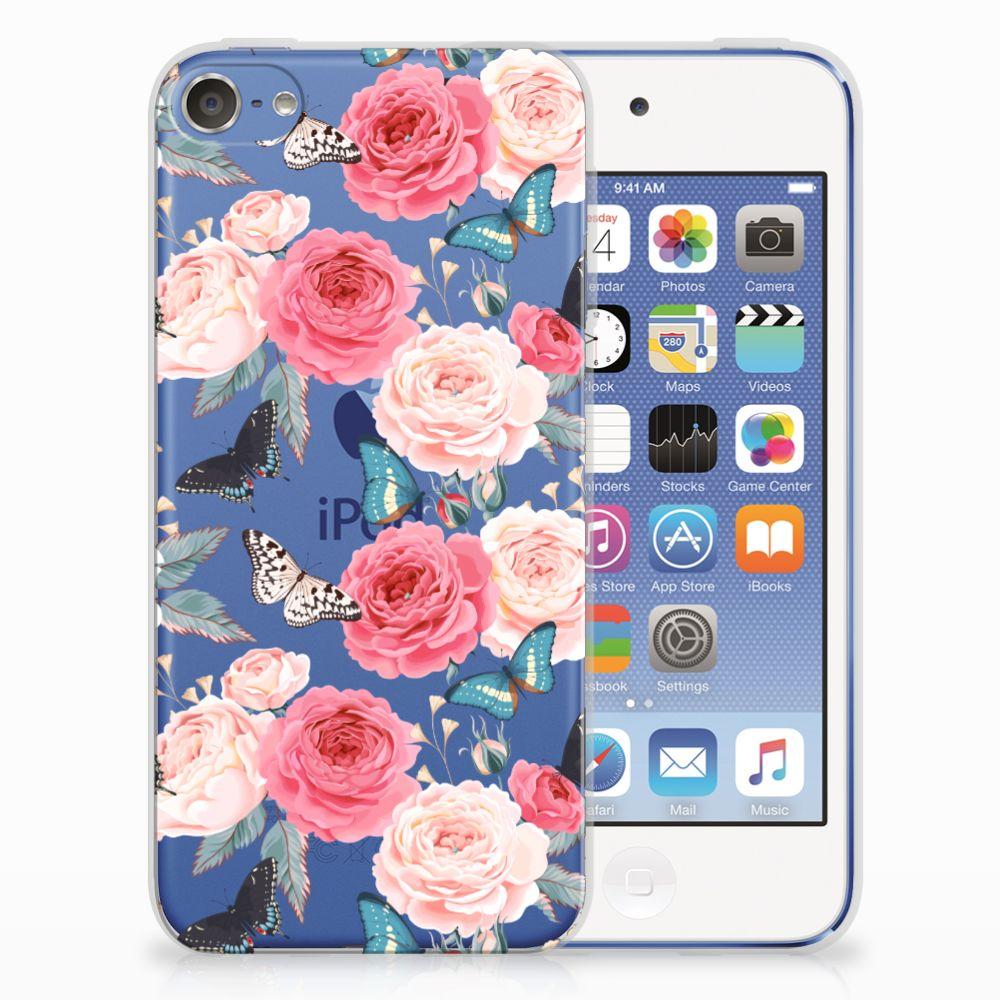Apple iPod Touch 5 | 6 Uniek TPU Hoesje Butterfly Roses