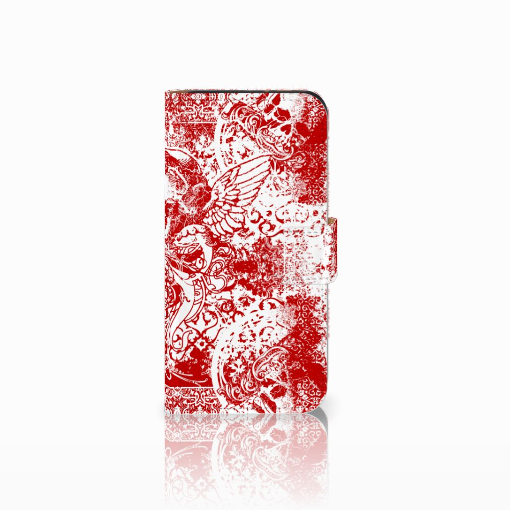 HTC One Mini 2 Boekhoesje Design Angel Skull Red