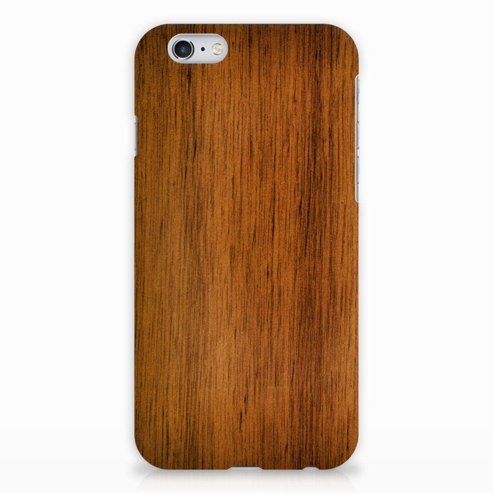 Apple iPhone 6 | 6s Uniek Hardcase Hoesje Donker Hout