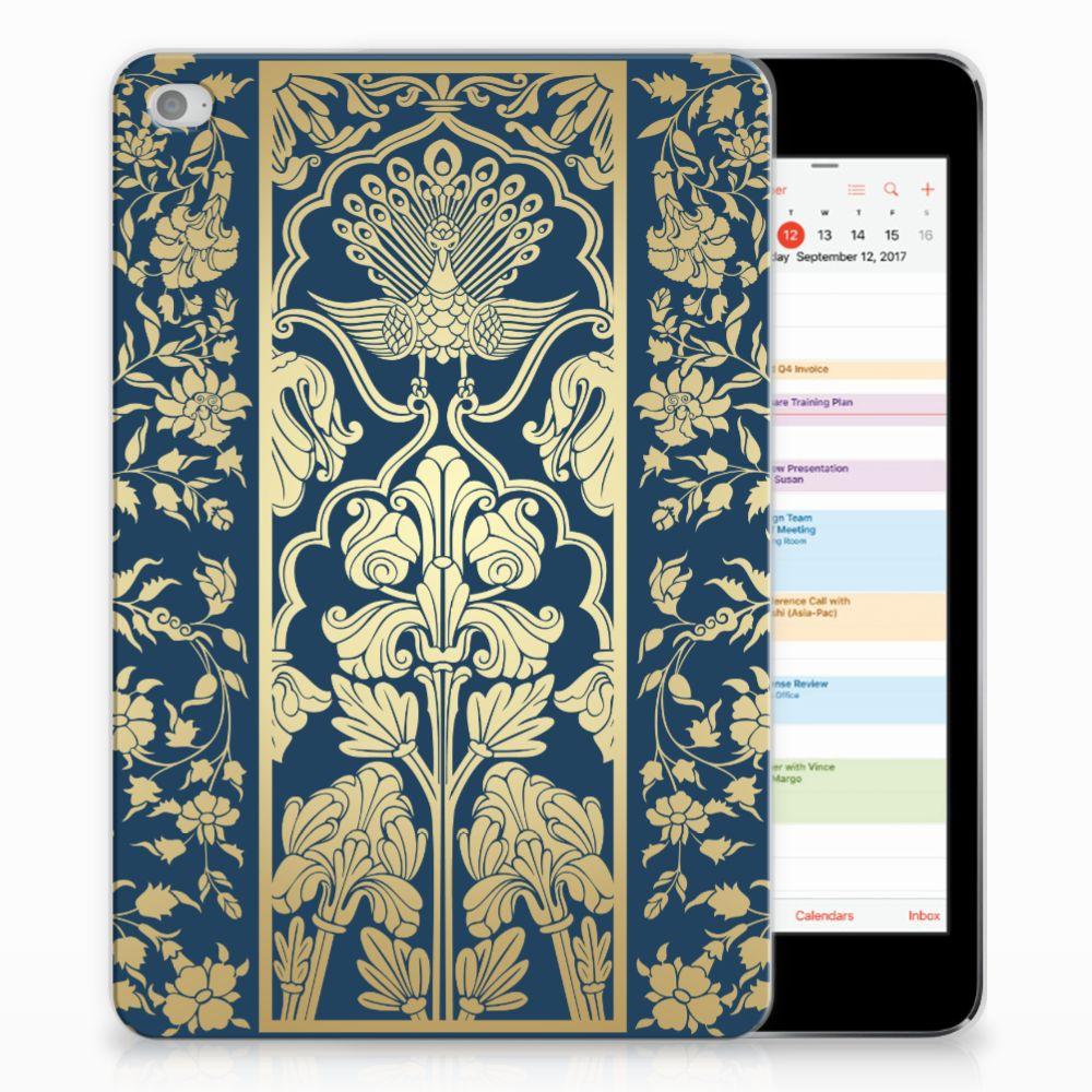 Apple iPad Mini 4 | Mini 5 (2019) Siliconen Hoesje Golden Flowers