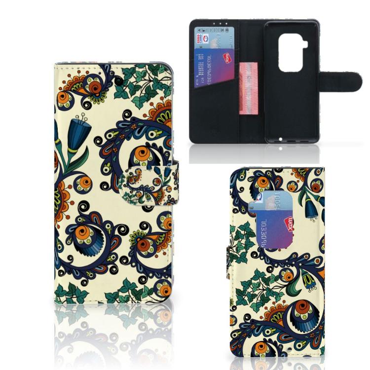 Wallet Case Motorola One Zoom Barok Flower