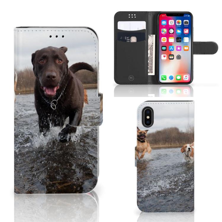 Apple iPhone X | Xs Telefoonhoesje met Pasjes Honden Labrador