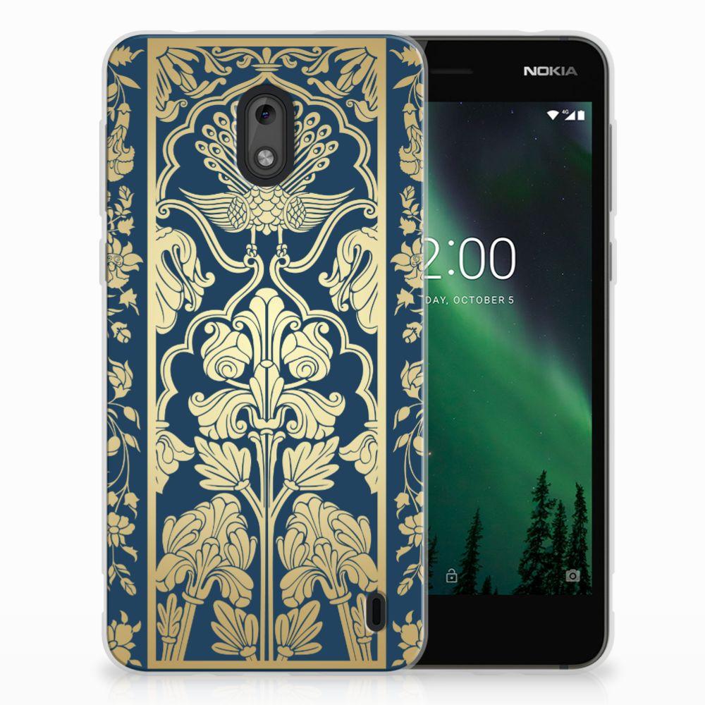Nokia 2 TPU Case Golden Flowers